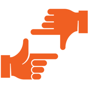 The production people logo hands